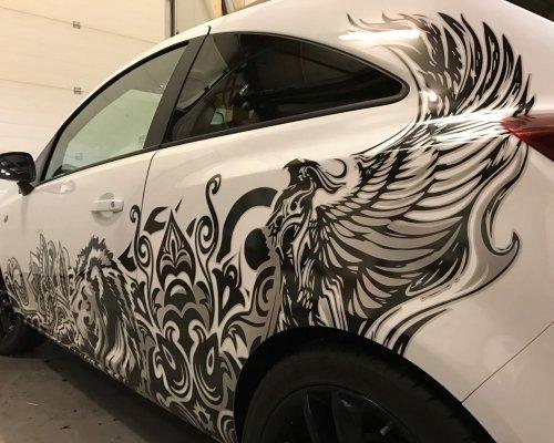 kunst op auto